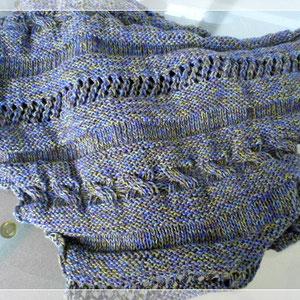 """Tuch """"CableCoaster Peekaboo"""" v. Birgit Schneggart (ravelry) / Wolle: Der Duft der Provence; gestrickt von Sabine B."""