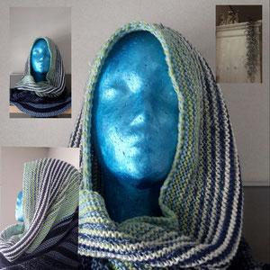 """DoppelWopper-Leuchi-Loop 5fädig """"Blaues Wunder"""" vs """"Colours of Scotland"""" / gestrickt und fotografiert von Silke Schröter"""
