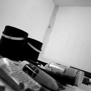 Ambiance noir et blanc.