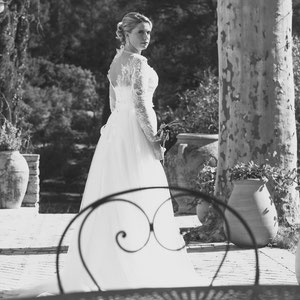 photographe Mariage toulon provence var marie creation de robe noir et blanc