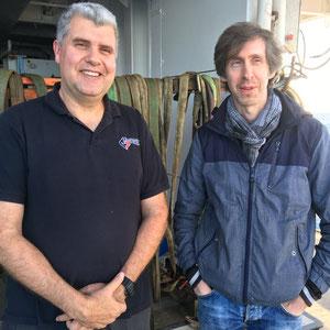 Captain Gilles Ferrand and Principal Investigator Jeffrey Poort