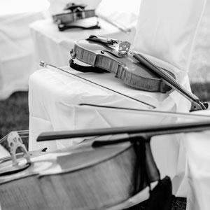 Geige, Bratsche, Cello