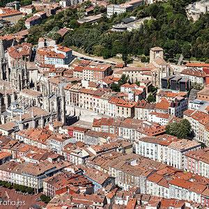 Vista aérea del casco de Burgos