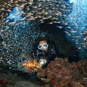 Freiwasser Tiefe