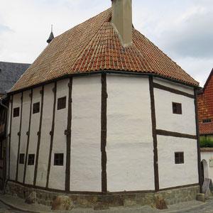 Das älteste Haus in Quedlinburg, ein sogenannter Ständerbau, um ca. 1300 erbaut.