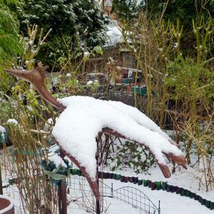 Flugsaurier im Schnee