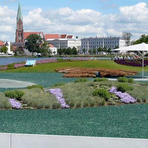 Blick über das Gartenschaugelände