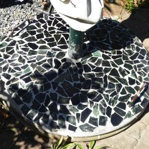 Schirmständer mit Mosaik