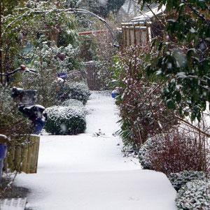 ..nochkeine Spuren im Schnee