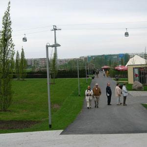 Zentraler Weg durch die Gartenschau