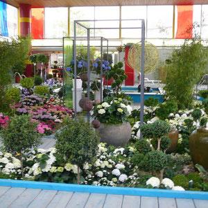 Blumenhalle im  Hallenbad