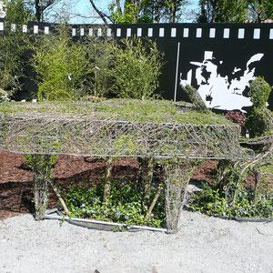 Klavierspieler im Filmgarten (Casablanca)