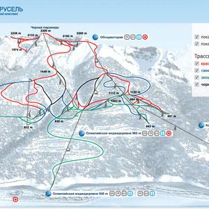 Схема курорта Горная Карусель