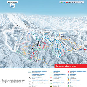 Схема курорта Газпром