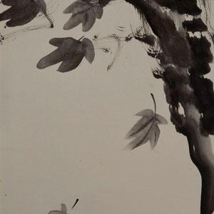 Ahorn im Herbst/1981/ 29,3x60,5cm/ ID: 4S4-0361