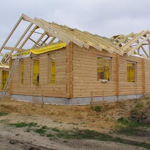 Barrierefreies Wohnblockhaus mit Thermowand