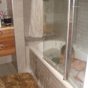 SDB familiale avec baignoire