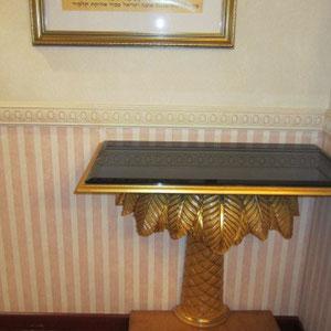 Table d'appoint en bois de palmier