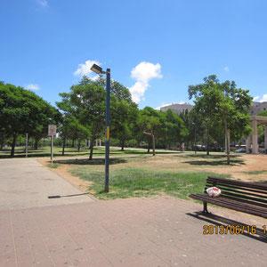 Parc en bas de l'immeuble