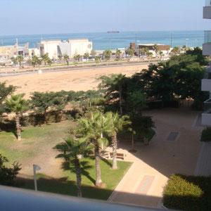 Vue parc et accès à la plage