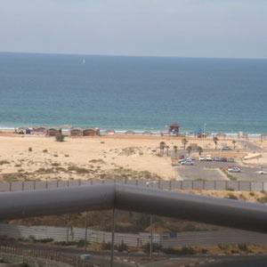 Vue sur la plage du Balcon