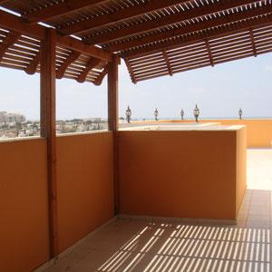 accès terrasse de la 2ème chambre