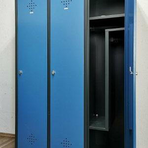 Metall Umkleideschränke Spinde blau