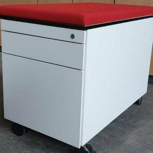 Rollcontainer STEELCASE mit Sitzauflage