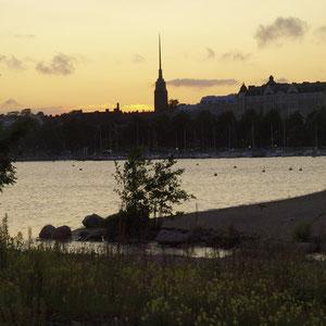 Abendstimmung über Helsinki