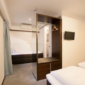 Drittes Bett im Mehrbettzimmer