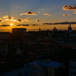 Sonnenuntergang über Tallinn.