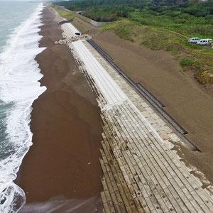 海岸工事 上下浜海岸災害復旧