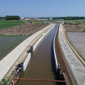 排水路工事 赤川地区工事