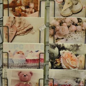 Postkarten in rosa