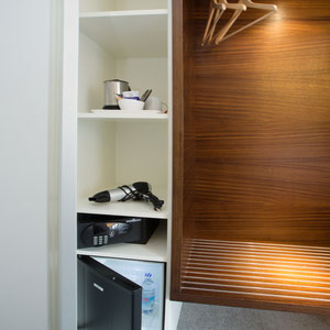 fridge, room safe, kettle and hairdryer in all rooms