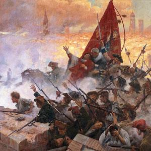 L'Onze de setembre de 1714, Antoni Estruch i Bros, huile sur canevas, 1909.
