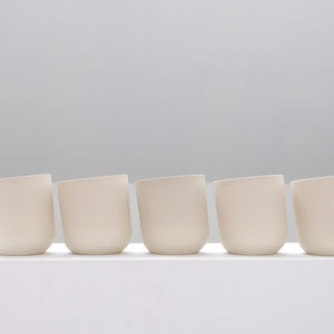 'U' stoneware mug by belgian ceramist ilona van den bergh