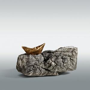 Land in Sicht!_1_2013, Bronze, Rilke-Stein