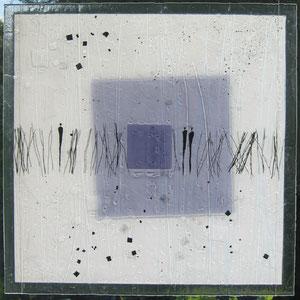 Lichtbild_Begegnungen, Fusing-Technik, Überfangglas, 60x60 cm