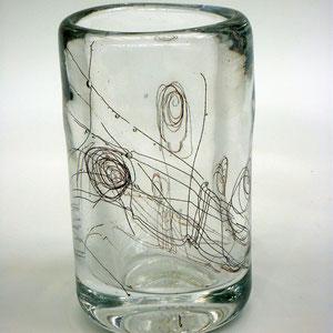 Gewebtes, mundgeblasen, optisches Glas
