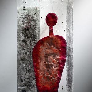 Begegnungen im Raum_2006, Floatglas, Fusing-Technik, 90x50 cm, Foto: Markus Steur
