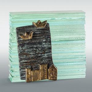 Atlantis, Bronze, geschichtetes Floatglas