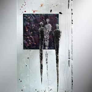 Begegnungen_2006, Floatglas, Fusing-Technik, 90x50 cm, Foto: Markus Steur