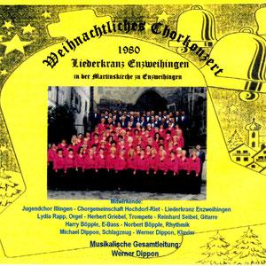 Weihnachtkiches Chorkonzert des Liederkranz Enzweihingen ... 1980