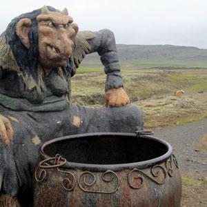 Troll des Guesthouse Fossatún