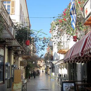 Einkaufsstraße in Nafplio