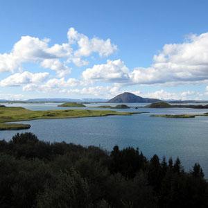 Blick auf den Mývatn-See