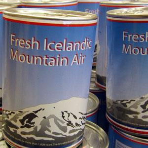 Frische isländische Bergluft