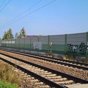 Schallschutz und Bahnübergang in Felgeleben