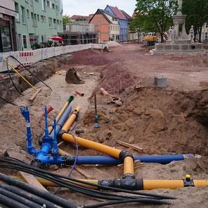 Marktumbau Schönebeck